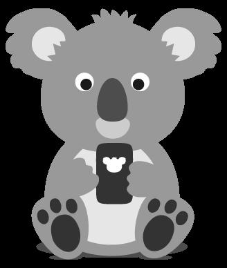 Koala on a smartphone