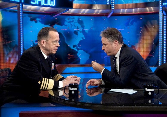 John Stewart and Michael Mullen on The Daily Show